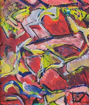 Willem de Kooning Dutch Abstract Oil on Canvas