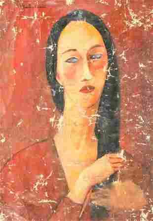 Amedeo Modigliani Italian Oil Canvas Provenance