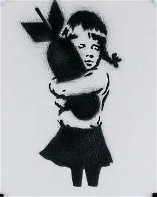 British Pop Dismaland Spray on Canvas