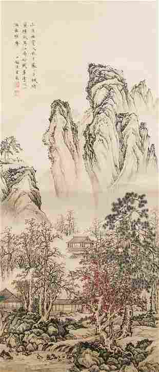 Chen Shaomei 1909-1954 Chinese Watercolor Landscap