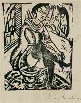 Ernst Ludwig Kirchner German Expressionist Woodcut