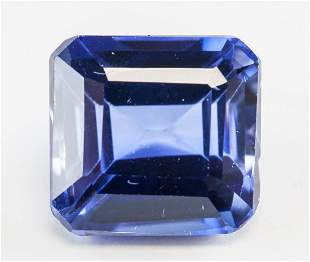 10.40ct Emerald Cut Blue Natural Sapphire GGL