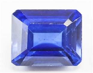 13.25ct Emerald Cut Blue Natural Sapphire GGL