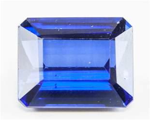18.10ct Emerald Cut Blue Natural Sapphire GGL