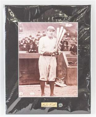 Babe Ruth Photo and Autograph COA
