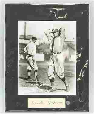 Walter Johnson Photo and Autograph COA