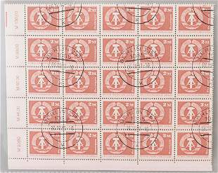 German 2M Stamps DDR Staatwappen