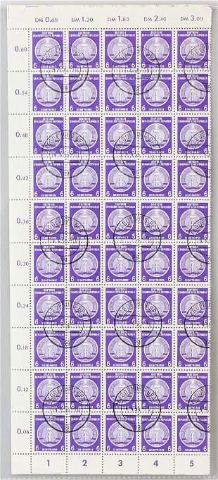 German 6 Pfennig Stamps DDR DIENSTMARKE 1950s