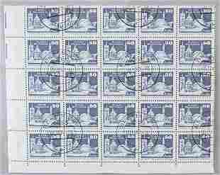 German 80 Pfennig Stamps Warnemünde Rostock