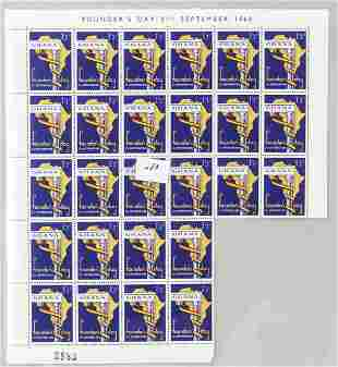 Ghana Founders Day 1/3d Stamps 1960