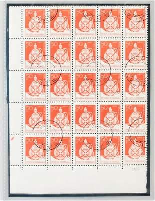 Romanian 50 Stamps ARTA POPULARA Circa 1980s