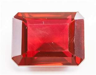 42.30ct Emerald Cut Red Natural Ruby GGL
