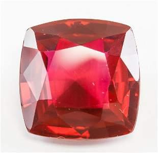 56.80ct Cushion Cut Red Natural Ruby GGL
