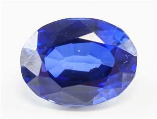 11.95ct Oval Cut Blue Natural Sapphire GGL