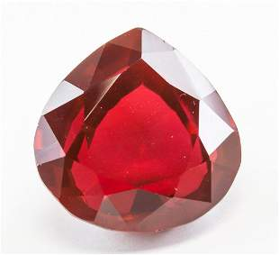50.00ct Pear Cut Red Natural Ruby GGL