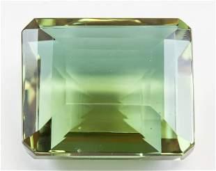 98.30ct Emerald Cut Brown to Green Alexandrite GGL