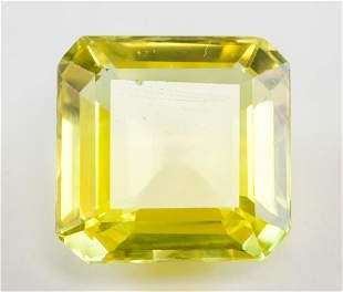15.05ct Emerald Cut Yellow Natural Sapphire GGL