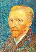 Oil on Canvas Self-Portrait Signed Vincent