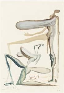 Salvador Dali Signed Spanish Woodblock E.A.1976