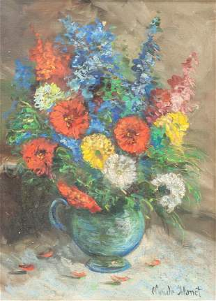 French Oil on Canvas Signed Claude Monet
