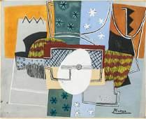 Pablo Picasso Spanish Gouache on Paper