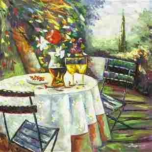 Larry Vargas Australian Acrylic on Canvas COA