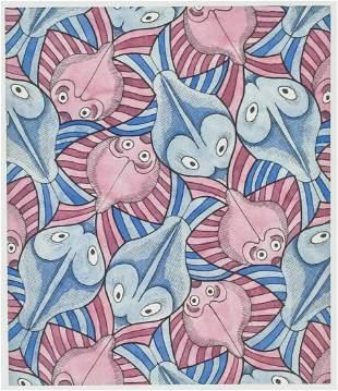 M. C. Escher Dutch Signed Linocut 53/200