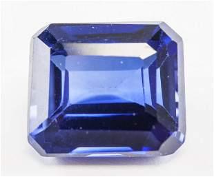 7.70ct Emerald Blue Kashmir Natural Sapphire GGL