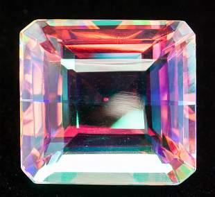 117.50ct Emerald Cut Natural Mystic Quartz GGL