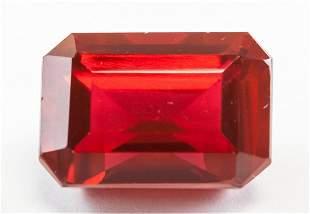 28.30ct Emerald Cut Red Natural Ruby GGL