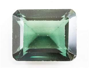 12.55ct Emerald Cut Green Natural Sapphire GGL