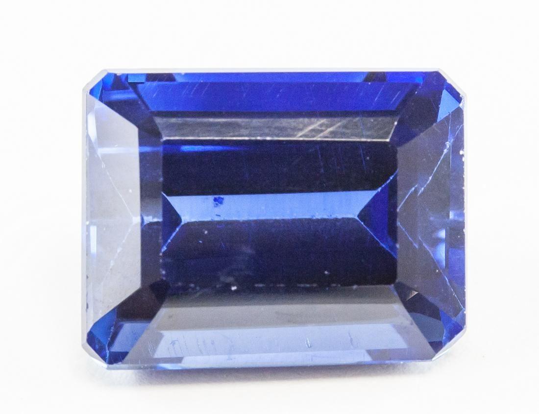 15.45ct Emerald Cut Blue Natural Sapphire GGL