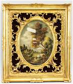 Otto Von Thoren Austrian Gilt Framed Oil on Panel