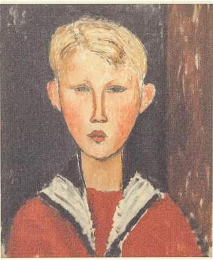 Amedeo Modigliani Italian Signed Lithograph X/C