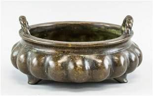 Chinese Bronze Lobed Censer Xuande Mark