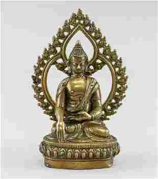 Chinese Bronze Buddha Statue with Aura
