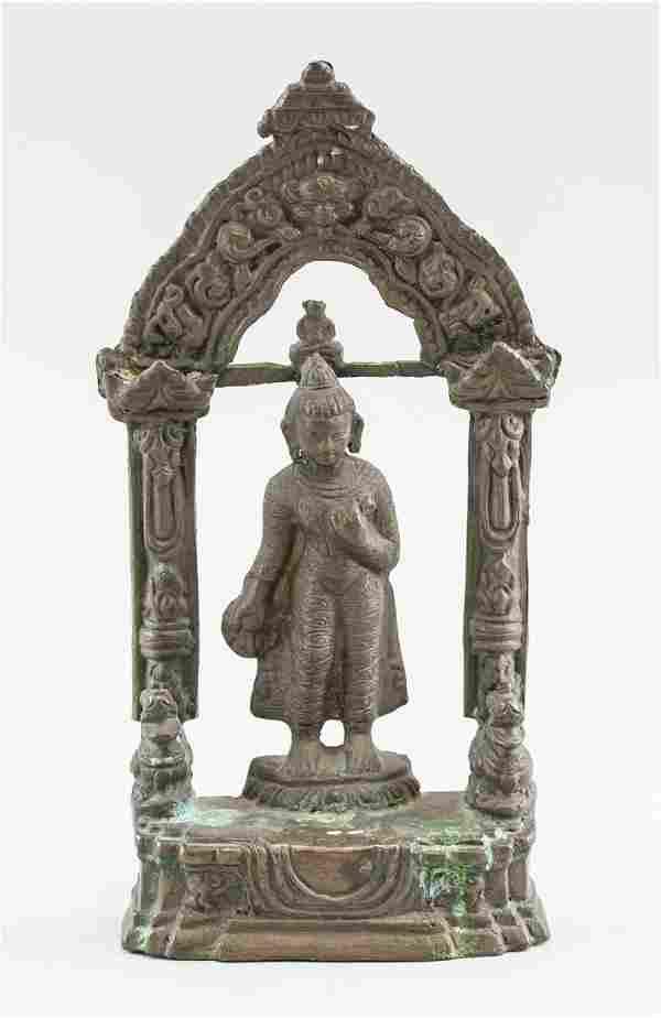 Indian Bronze Buddha Statue