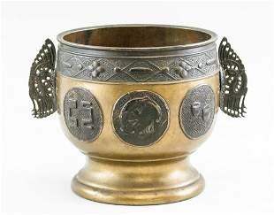 Japanese Fine Gilt Large Bowl Signed