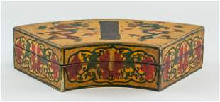 Chinese Lacquer Wood Carved Box Qianlong Mark