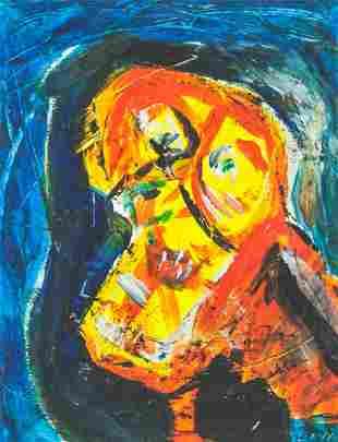 Asger Jorn Danish Modernist Oil on Canvas
