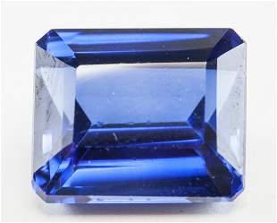 16.10ct Emerald Cut Blue Natural Sapphire GGL