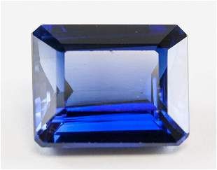 13.00ct Emerald Cut Blue Natural Sapphire GGL
