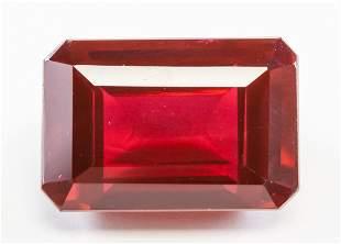 35.15ct Emerald Cut Red Natural Ruby GGL