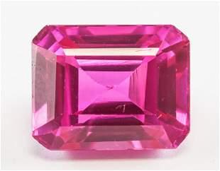 12.75ct Emerald Cut Pink Natural Danburite GGL
