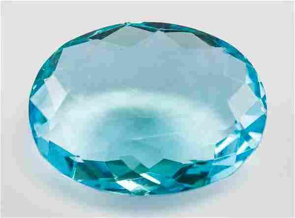 60.10ct Oval Cut Blue Indicolite Tourmaline GGL