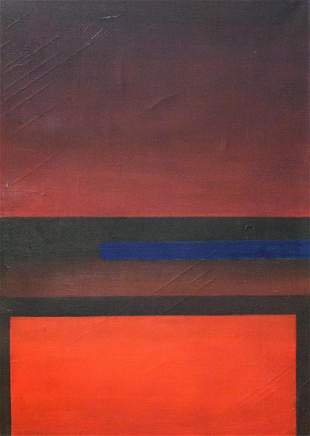 American Abstract Oil on Canvas Signed Mark Rothko