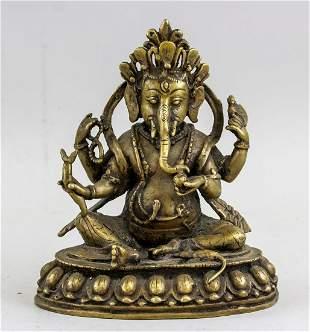 Indian Bronze Ganesha Statue