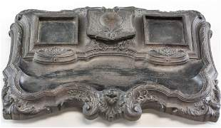 Napoleon Style Inkwell Wood