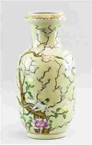 Chinese Light Green Vase Guangxu MK