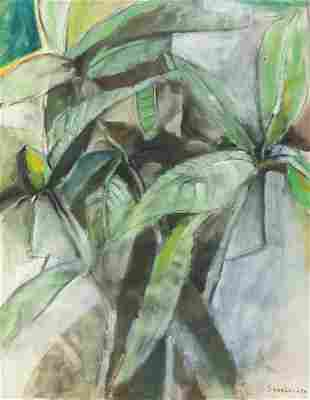 American Modernist Oil on Canvas Signed Sheeler